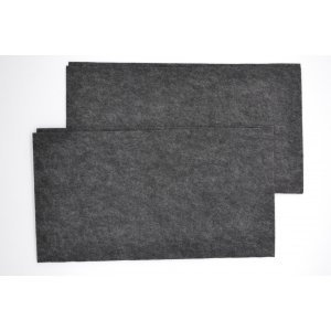 Коврик влаговпитывающий 40*45 см черный 2шт / Коврик влаговпитывающий 2шт / WET-4045 BK