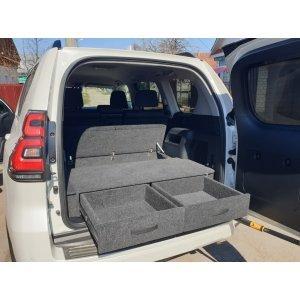 Полка-органайзер (спальник) Toyota Land Cruiser Prado 150 Рестайлинг (2017-2021 г.в.) Комфорт серый / ТЛКП150РКОМ серый