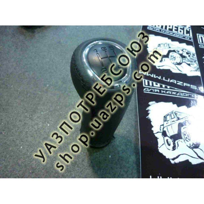 Рукоятка рычага переключения передач КПП DYMOS УАЗ ПАТРИОТ РЕСТАЙЛИНГ-2017 (КОЖА) / 3163-1703088-02 (комплект.Привелегия, Стиль)