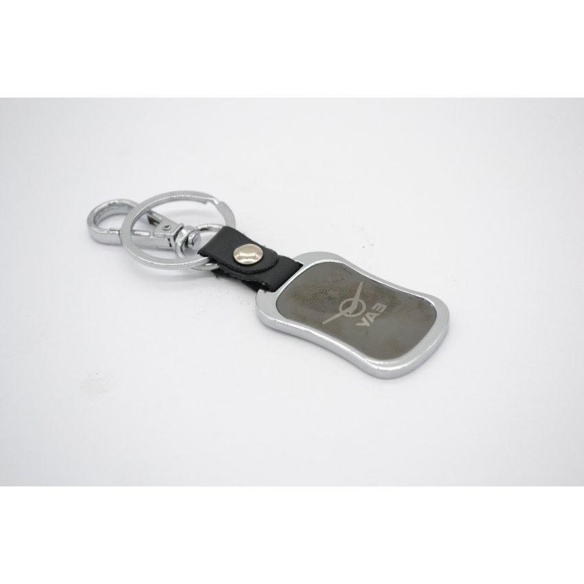 Брелок УАЗ (черный + хром) двухсторонний / Брелок УАЗ