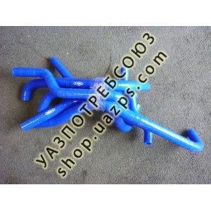 Патрубки отопителя для УАЗ PATRIOT с дв. ЗМЗ 409 ЕВРО4 силиконовые (к-кт 8шт.) / 5366