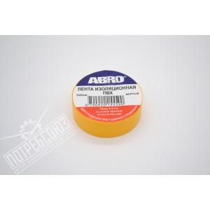 Изолента желтая 10м ET-912-R ABRO / ET912RYELLOW