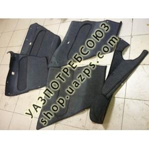 Обшивка дверей УАЗ 469, ХАНТЕР (комплект) ковролин / 469- КОВРОЛИН