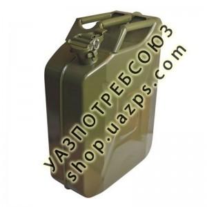 Канистра стальная вертикальная (антикоррозийное покрытие, горловина с зажимом) на 20л / Can-20
