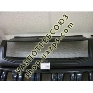 Облицовка радиатора (решетка) УАЗ ПАТРИОТ 2008-14 (СЕТКА МЕТАЛЛ) АБС / 3163-8401014 АБС