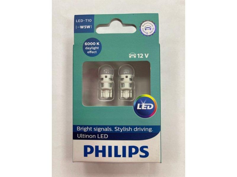 Лампа LED W5W Philips Ultinon  2 шт. /  11961ULWX2