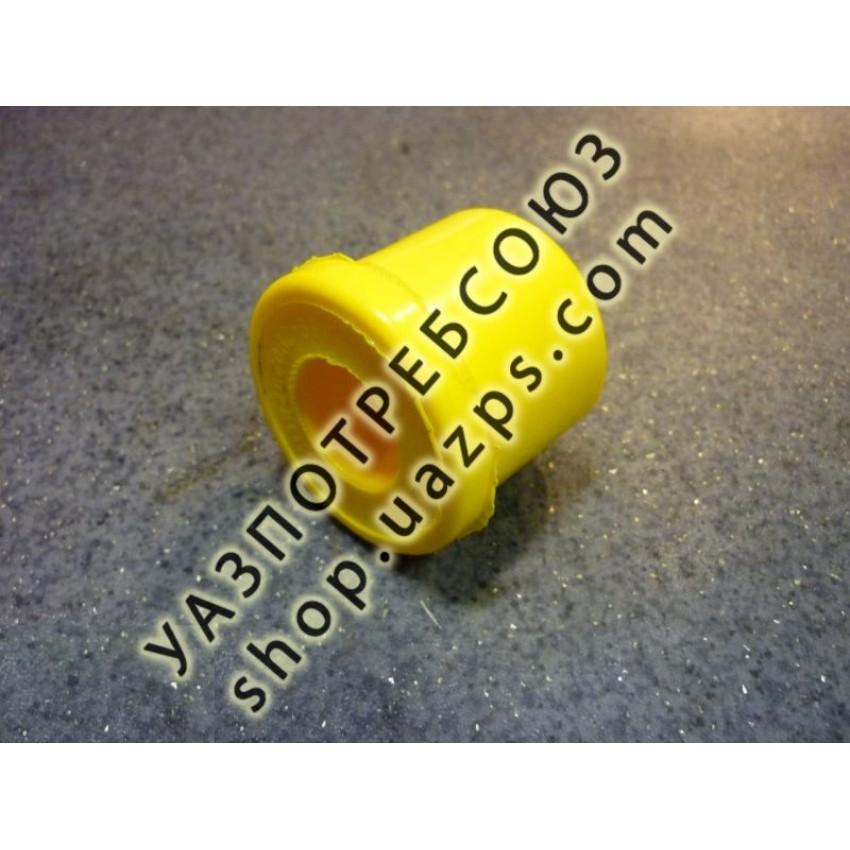 Втулка рессоры УАЗ 469, ПАТРИОТ (ушка, с 2007 г.в.) ЖЕЛТАЯ полиуретан / 469-2902028 ЖЕЛТАЯ