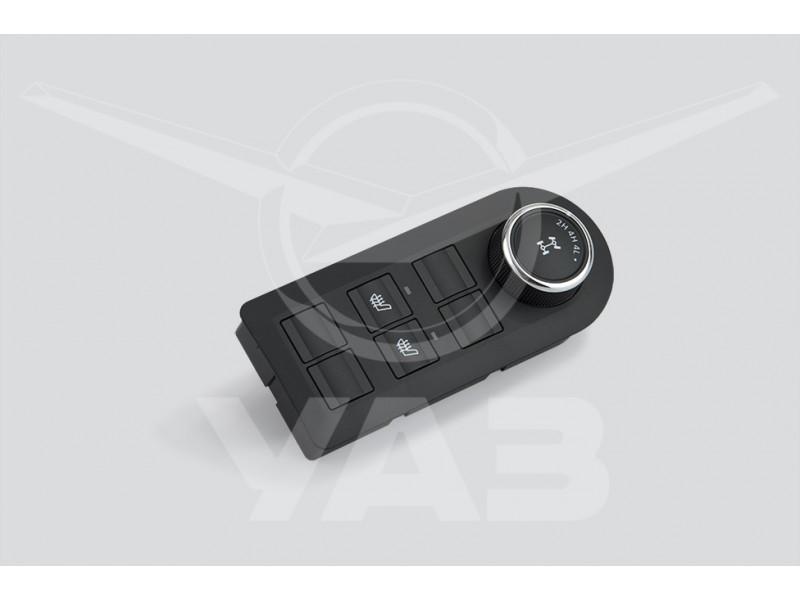 Блок управления режимами электро-РК (с обогревом сидений) УАЗ PATRIOT, РЕСТАЙЛИНГ-2017 / 3163-3769221 (56.3769-130; с 11.2016 - комплектаци