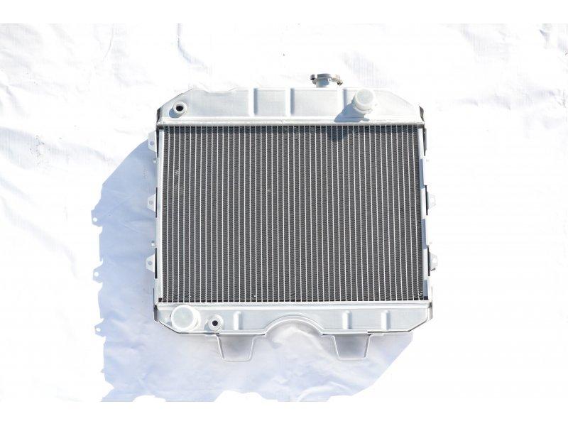 Радиатор охлаждения УАЗ ХАНТЕР (4213), 452 (4091, 4213) алюминий 3х рядный AKL Nocolok / 3471-1301012 / AKL-3741A