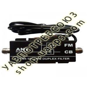 Дуплексный фильтр 27/64-108 МГц OPTIMCOM (переходник CB FM) / 2059