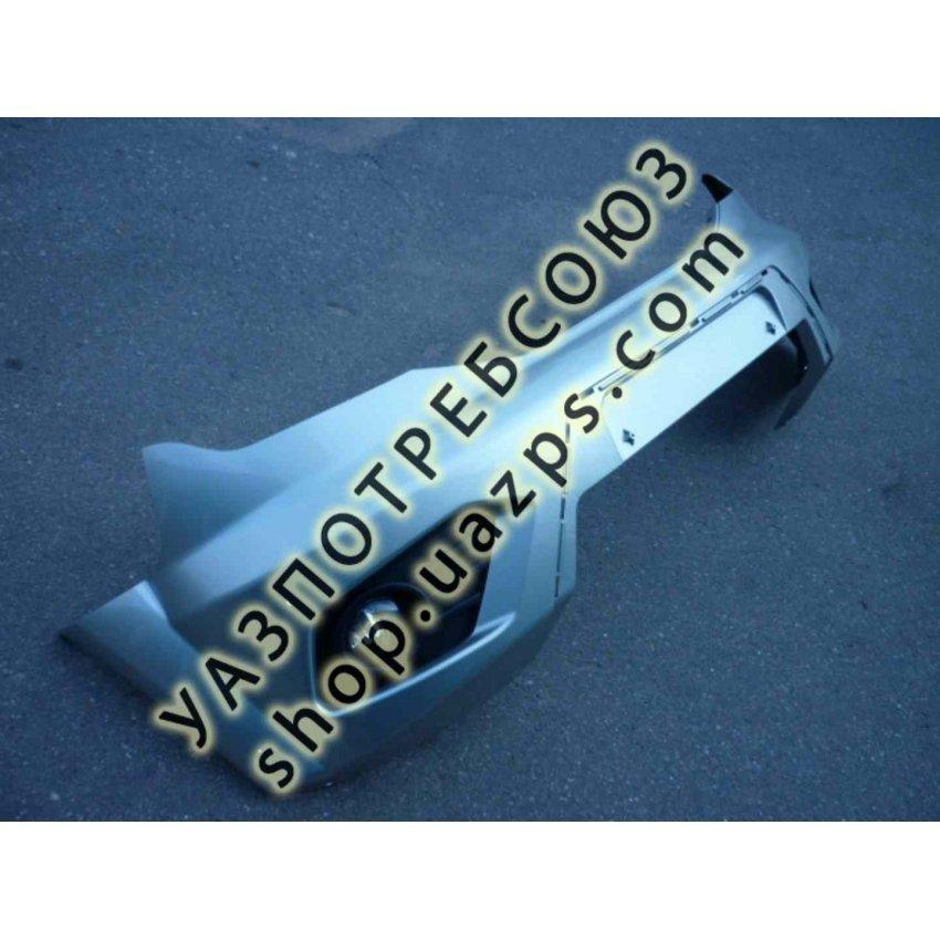 Бампер УАЗ ПАТРИОТ передний пластиковый (В СБОРЕ) РЕСТАЙЛИНГ-2014 (ОКРАШЕННЫЙ) цвет
