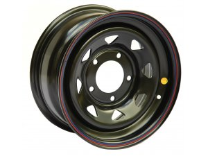 Диск колесный OFF-ROAD-WHEELS (УАЗ) 8*R16 ET+15 (5*139,7, d110) черный / 1680-53910BL+15A17