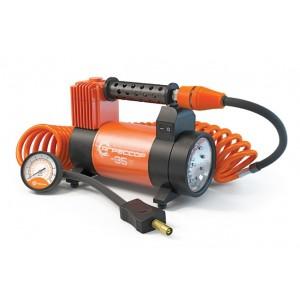 Компрессор автомобильный АГРЕССОР 35L с фонарем (35л/мин) / AGR-35L с фонарём