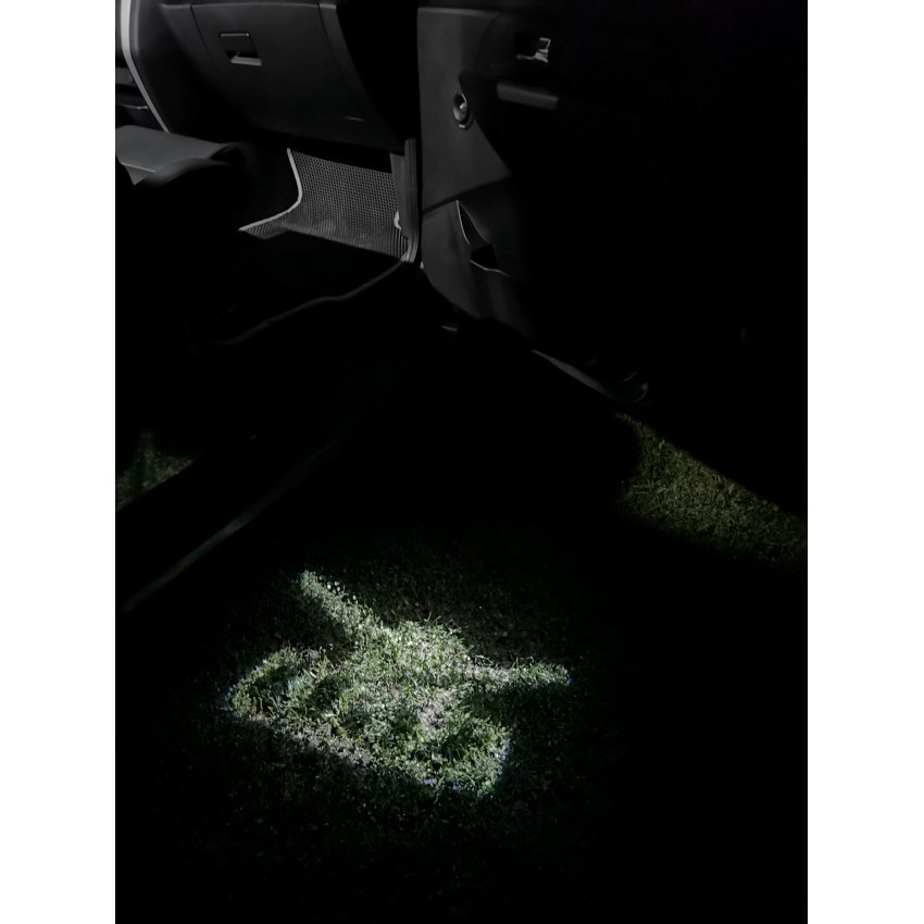 Подсветка лужи (зоны выхода) УАЗ логотип (к-кт 2шт, коронка) / 1753 подсветка двери
