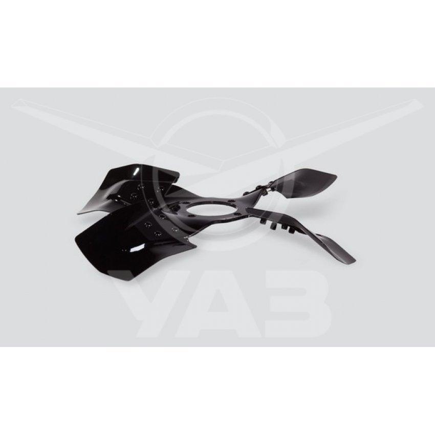 Вентилятор УАЗ (крыльчатка мет., 4 лопастн.) ПОД ГИДРОМУФТУ / 3741-1308010-01