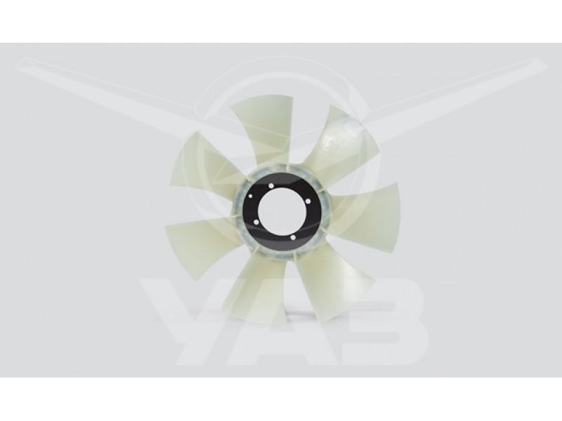 Вентилятор УАЗ ПАТРИОТ (дв.409 с 2008 г.в. + дв.IVECO / крыльчатка БЕЛАЯ) голый / 3162-1308010