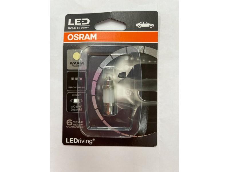 Лампа светодиодная C5W 12 v (36 мм) OSRAM теплый белый 4000K / 6498WW-01B
