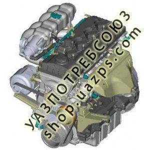 Двигатель в сб. 40905 АИ-92 УАЗ ХАНТЕР инжектор (Евро-4) (ЗМЗ) / 40905.1000400-50