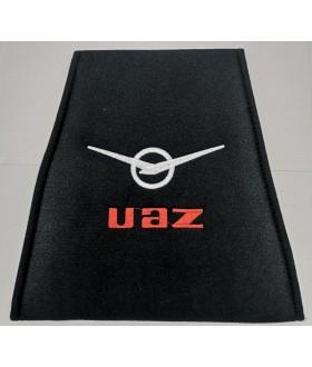 Накидка (чехол) подголовника с логотипом УАЗ и карман для телефона / Подголовник с логотипом УАЗ