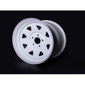Диск  колесный OFF-ROAD-WHEELS (УАЗ) 8*R15  ET-19 (5*139,7, d110) БЕЛЫЙ** с колпаком / ORW / А17 / ТРЕУГ.8 ЕТ-19 БЕЛЫЙ