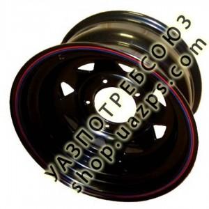 Диск  колесный OFF-ROAD-WHEELS (УАЗ) 8*R15  ET-19 (5*139,7, d110) ЧЁРНЫЙ (треуг.) / ORW / А17 / ТРЕУГ.8 ЕТ-19 ЧЕРНЫЙ