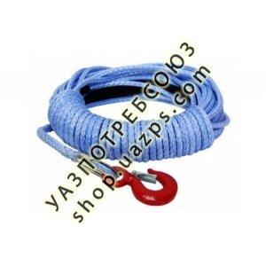 Трос синтетический лебедочный T-Max 24м х 8.6мм с коушем и крюком / Трос синтетика