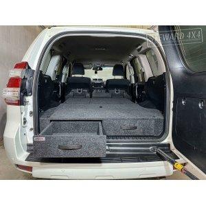 Полка-органайзер (спальник) Toyota Land Cruiser Prado150 КОМФОРТ до рестайлиг (2009-2017 г.в.) серый / ТЛКП150ДКОМ